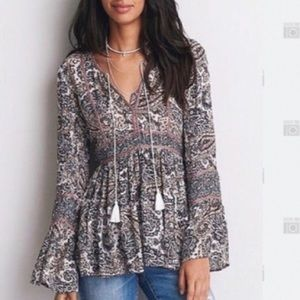 American Eagle women's long sleeve blouse